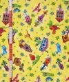 Madarak és madáretetők - mintás vászon anyag