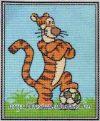Tigris - előnyomott gobelin