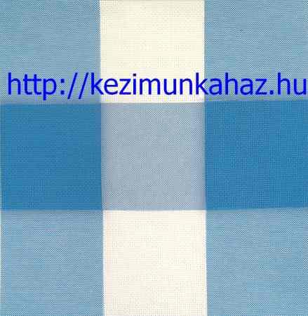 Kockás aida kék fehér