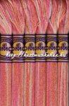 DMC color variations 4110 rózsaszín-barack-halvány rózsaszín osztott hímzőfonal