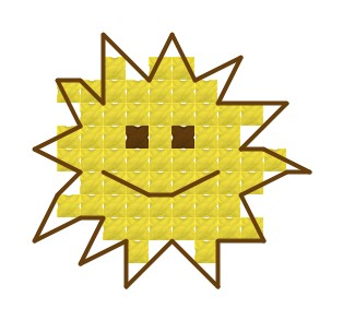 Nap - keresztszemes készlet