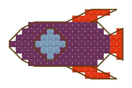 Űrhajó - keresztszemes készlet
