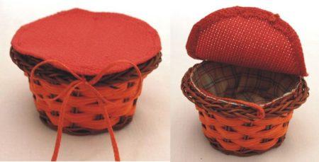 Narancssárga pici kosárka - kör alakú