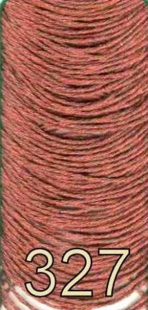 Barna színű metál effekt osztott szálú hímzőfonal