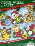 6 db karácsonyi minta - leszámolható keresztszemes plasztik készlet