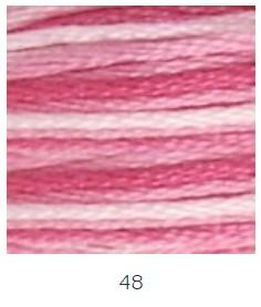 DMC 048 színátmenetes ciklámen osztott hímzőfonal