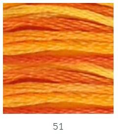 DMC 051 színátmenetes narancssárga osztott hímzőfonal