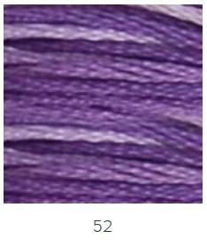 DMC 052 színátmenetes lila osztott hímzőfonal