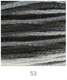 DMC 053 színátmenetes szürke osztott hímzőfonal