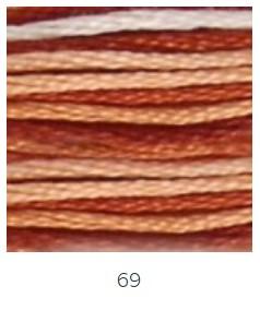 DMC 069 színátmenetes barna osztott hímzőfonal