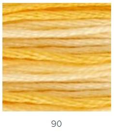 DMC 090 színátmenetes sárga osztott hímzőfonal