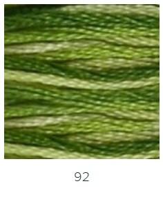 DMC 092 színátmenetes zöld osztott hímzőfonal