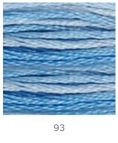 DMC 093 színátmenetes kék osztott hímzőfonal
