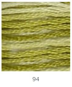 DMC 94 színátmenetes zöld moha osztott hímzőfonal