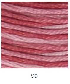 DMC 99 színátmenetes padlizsán osztott hímzőfonal