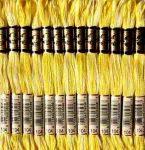 DMC 104 színátmenetes citromsárga osztott hímzőfonal