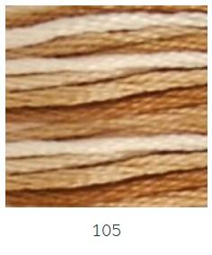 DMC 105 színátmenetes barna osztott hímzőfonal