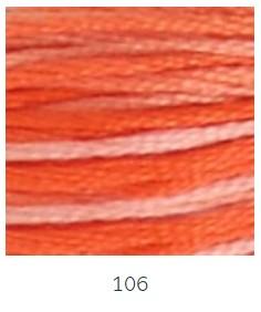 DMC 106 színátmenetes narancs osztott hímzőfonal