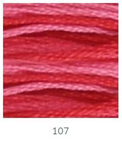DMC 107 színátmenetes bordó osztott hímzőfonal