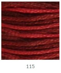 DMC 115 színátmenetes bordó osztott hímzőfonal