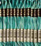 DMC 123 színátmenetes türkizzöld osztott hímzőfonal