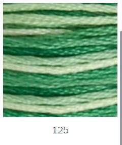 DMC 125 színátmenetes zöld osztott hímzőfonal