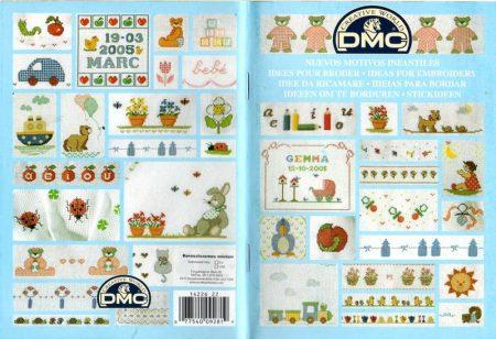 Újabb keresztszemes minták baba holmikra - DMC mintafüzet
