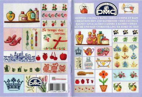 Konyhai és fürdőszobai leszámolható keresztszemes minták - DMC