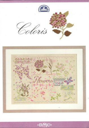 Coloris - Virágok - DMC leszámolható keresztszemes mintafüzet