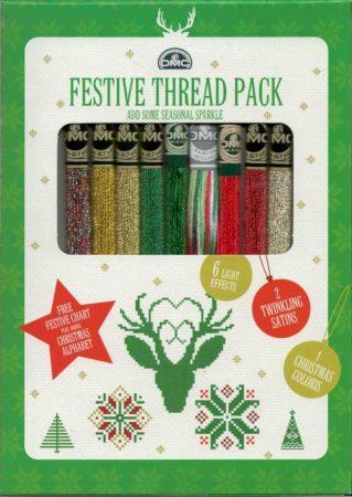 6 Karácsonyi színkavalkád - DMC fonal válogatás - ajándék mintaívvel