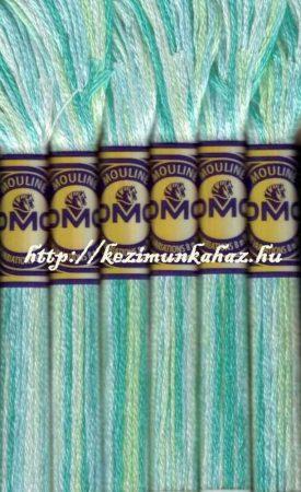 DMC color variations 4040 világos zöld-halvány kék- ekrü-off-white osztott hímzőfonal