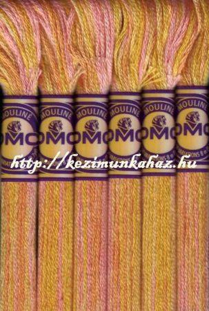 DMC color variations 4100 napsárga-barack-rózsaszín osztott hímzőfonal