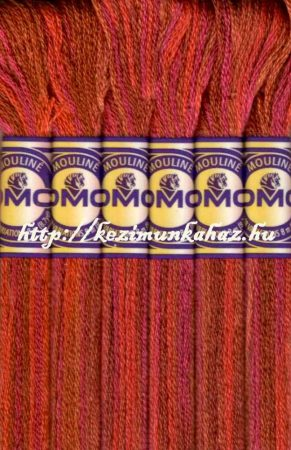 DMC color variations 4130 barna-terrakotta-bordós lila osztott hímzőfonal