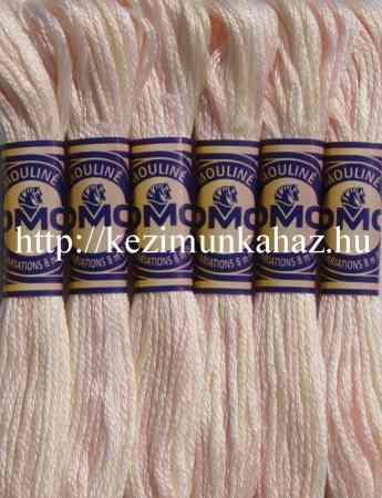 DMC color variations 4160 halvány rózsaszín-ekrü-fehér osztott hímzőfonal
