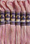 DMC color variations 4170 rózsaszín-világos barack-fehér osztott hímzőfonal