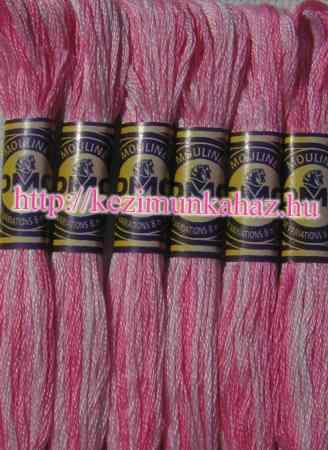 DMC color variations 4180 rózsaszín-világos rózsaszín-halvány rózsaszín osztott hímzőfonal
