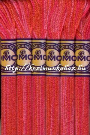 DMC color variations 4200 narancssárga-sötétciklámen-rózsaszín osztott hímzőfonal