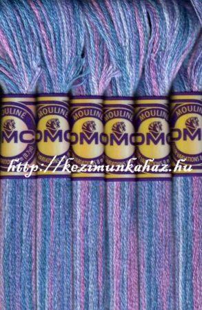 DMC color variations 4215 rózsaszín-kék-lila osztott hímzőfonal