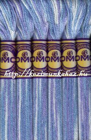 DMC color variations 4220 világos kék-világos lila-offwhite  osztott hímzőfonal