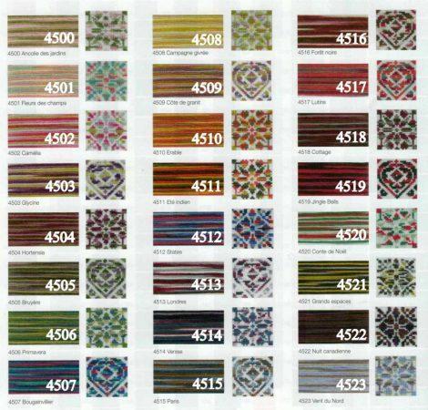2 DMC Coloris színátmenetes osztott hímzőfonal
