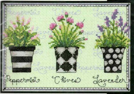Fűszer növények - Dimensions - leszámolható keresztszemes kép készlet