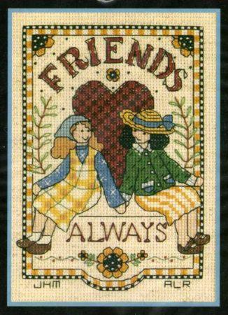 Barátok örökre - Dimensions - leszámolható keresztszemes kép készlet