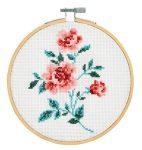 Rózsa - leszámolható keresztszemes hímzőrámás készlet