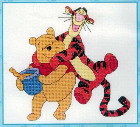 Micimackó és Tigris - leszámolható keresztszemes kép készlet
