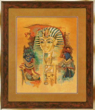 Egyiptomi fáraók - Joadoor - Lanarte leszámolható keresztszemes készlet