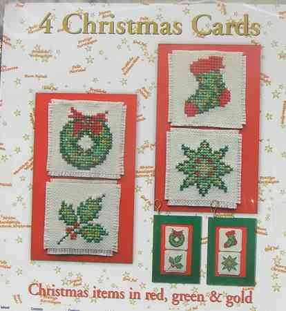 Karácsonyi képeslap készlet - Lanarte leszámolható keresztszemes készlet