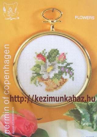 Nyári virágok - Permin leszámolható keresztszemes készlet