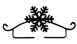 Hópehely akasztó - Rico - 11 cm