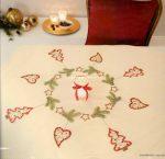 Karácsonyi füzér - Rico előfestett terítő készlet