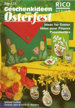 Gyönyörű szép húsvéti keresztszemes minták Rico mintafüzet
